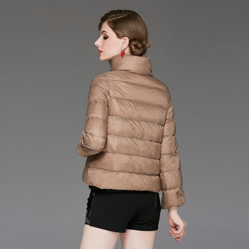Femme Unie À Couleur Multiflora Manteaux Slim Longues Blanc Hiver Chaud Épaississement Fit Coton Manches Au Manteau Garder Femmes Canard 80fP4x