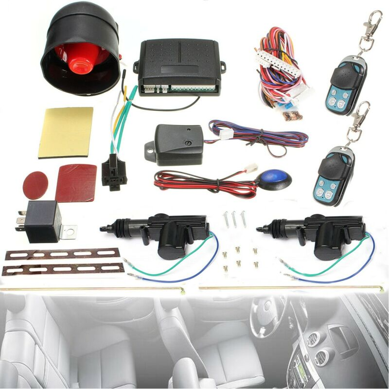 Universal Car Remote Control Central Locking KIT Alarm Immobiliser Shock