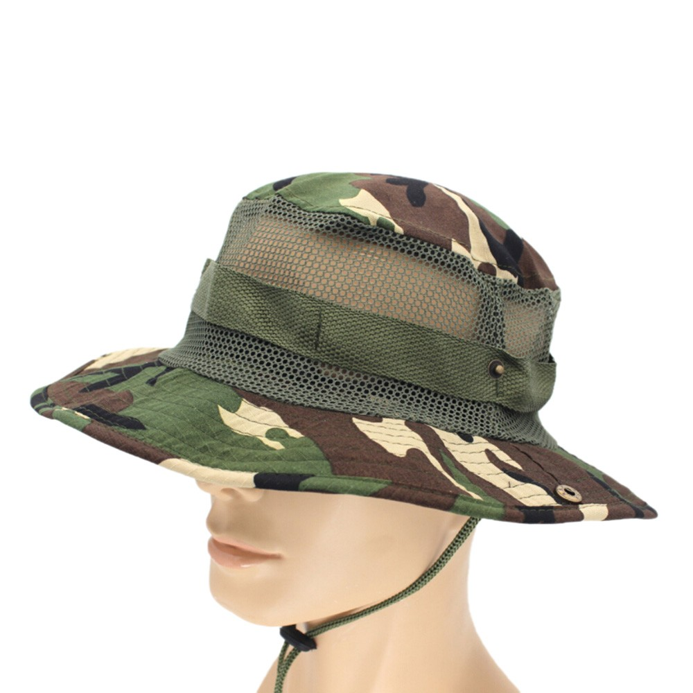 8b84e46aeb918 Tactical Airsoft Sniper Camouflage Boonie Hats Nepalese Cap Military Hats  Army Mens Military Sunscreen Sombrero