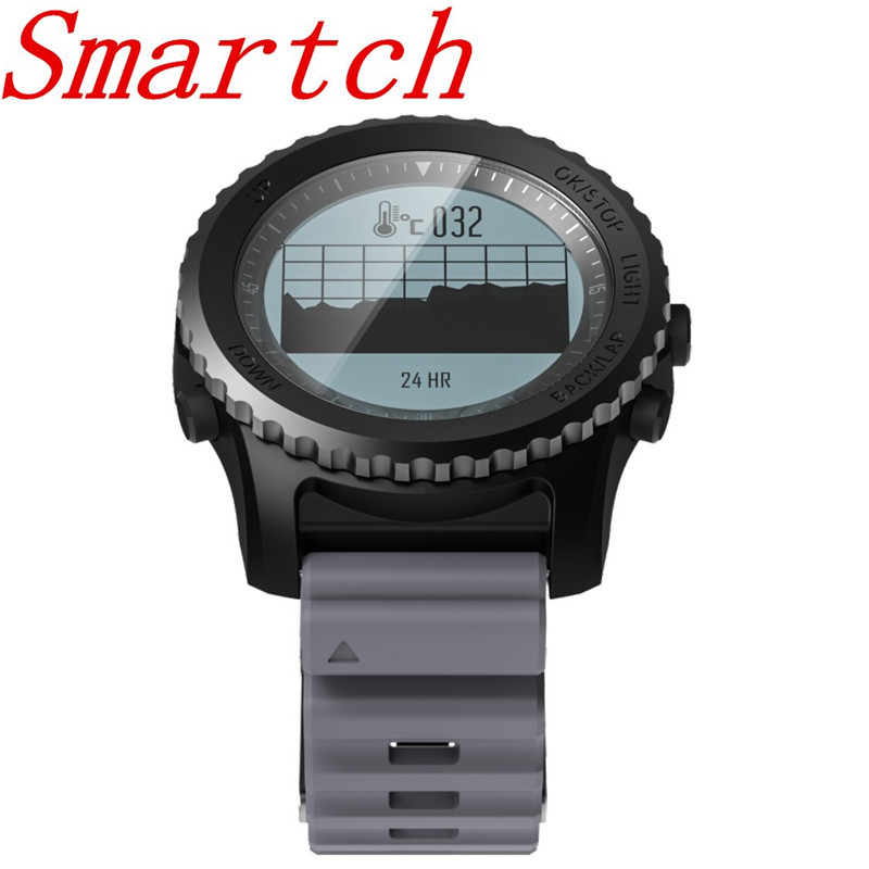 Smartch S968 Sport Smart Watch IP68 Waterproof Sleep Heart Rate Monitor Barometer Thermometer Altimeter Pedometer GPS Smart Watc smart baby watch q60s детские часы с gps голубые
