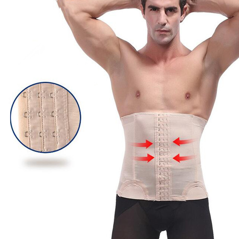 2018 Men's waist belt corset Cummerbund Tummy Slimming Belt body corset girdle reduction belly Contral men body shaper belly