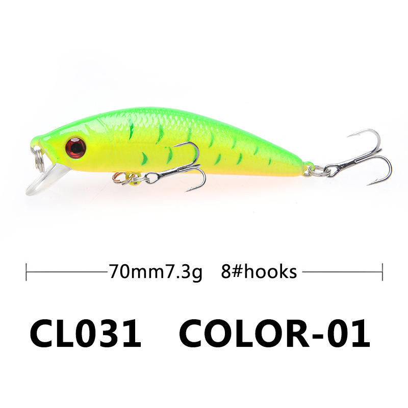 Image 5 - 1PCS Fishing Lure Minnow Crankbait Hard Bait Tight Wobble Slow sinking Jerkbait Fishing Tackle-in Fishing Lures from Sports & Entertainment