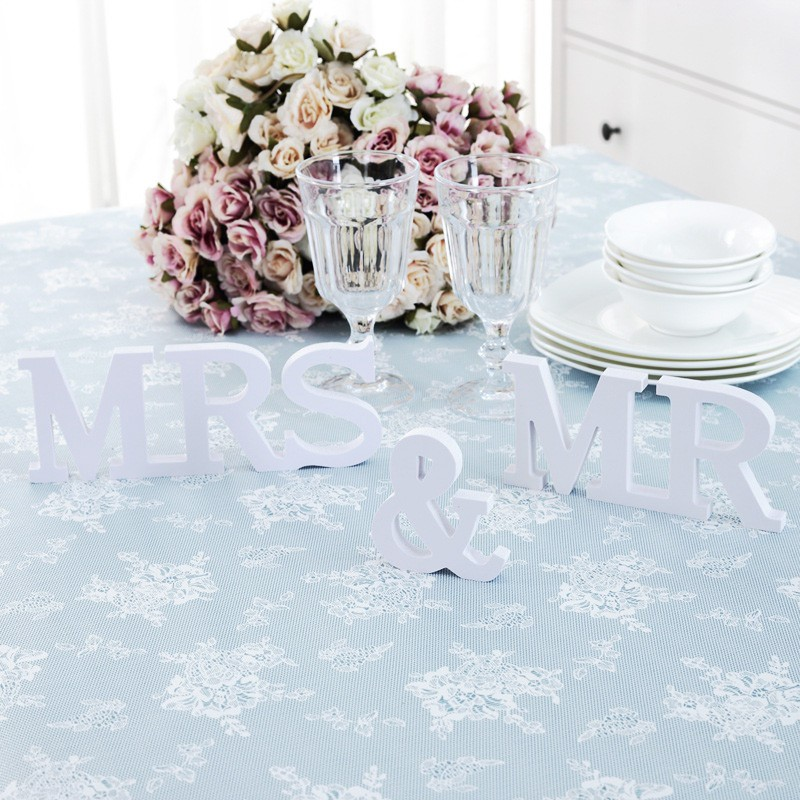 Новый комплект из 3 предметов Mr & Mrs буквы знак ПВХ деревянные дома Свадебные украшения новый
