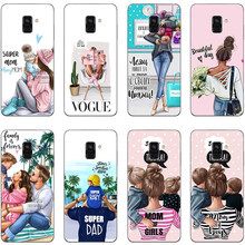 Moda negro marrón pelo Baby Mom Girl Queen 01 silicona suave teléfono funda para Samsung Galaxy S6 S7 Edge S8 S9 Plus para note 8 9(China)