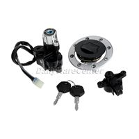Motorcycle Ignition Switch Lock+ Fuel Gas Cap Cover+ Key Set for Suzuki GSF600 GSF1200 Bandit 1995 2005 Scooter Moped Lockset
