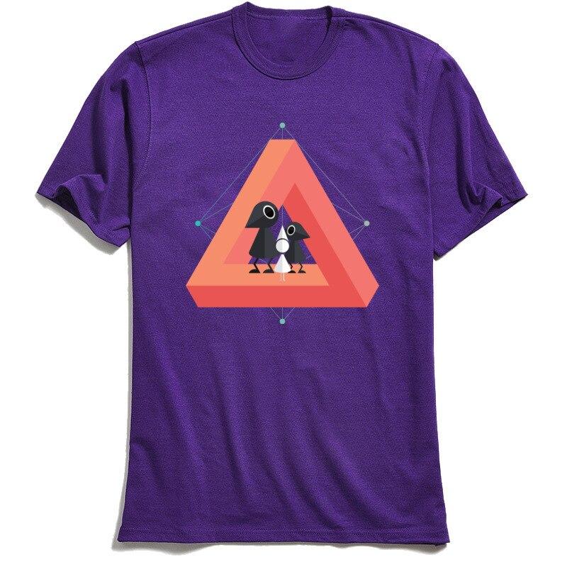 Penrose Kingdom Top T-shirts 2018 New Fashion Short Sleeve Customized 100% Cotton O Neck Mens Tops T Shirt Tee-Shirt Summer/Fall Penrose Kingdom purple