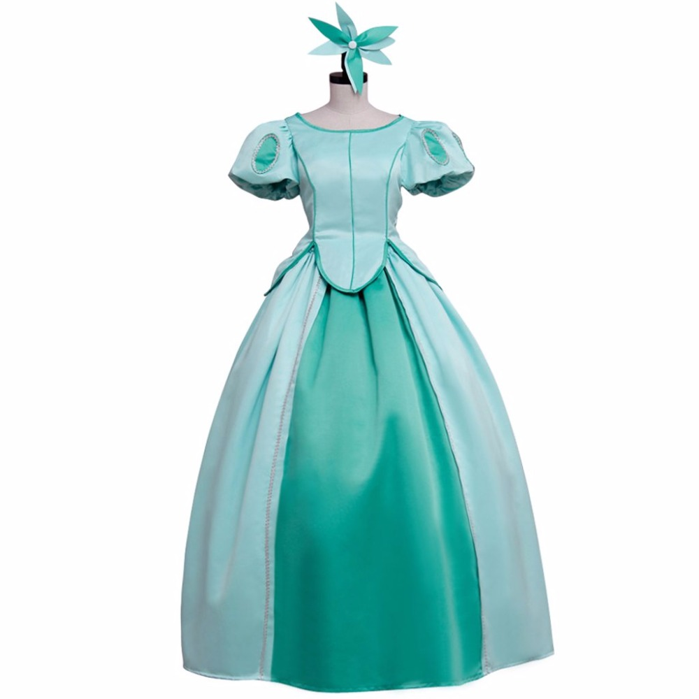 The Little Mermaid Princess Ariel Blue Medieval Dress Adult Women's Princess Dress Costume Cosplay For Party