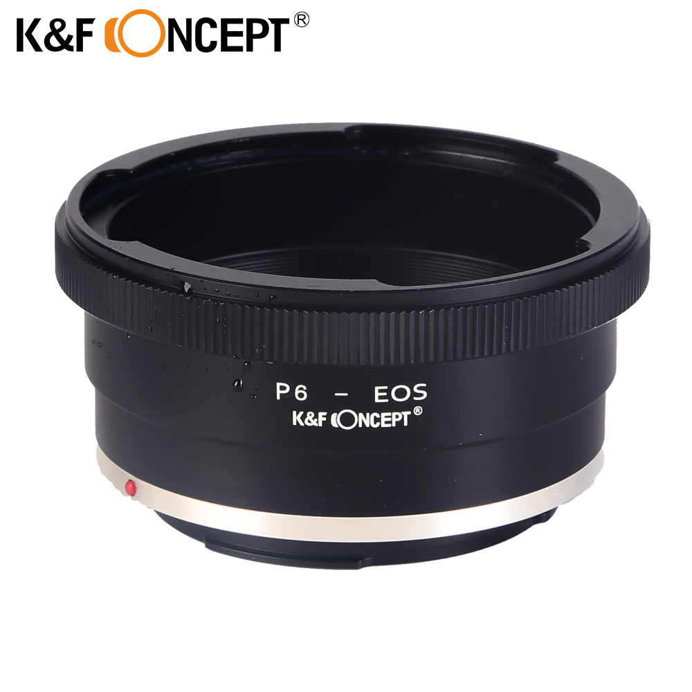 K&F CONCEPT Lens Mount Adapter Ring for Pentacon 6 Kiev 60 Lens (to) fit for Canon EOS Camera EF Mount Adapter 60-EOS