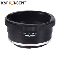 K&F CONCEPT Lens Mount Adapter Ring for Pentacon 6 Kiev 60 Lens (to) fit for Canon EOS Camera EF Mount Adapter 60 EOS