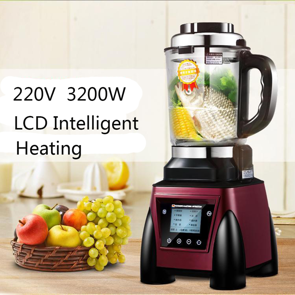 8 in 1 220V 3200W  Intelligent Heating Heavy Duty Mixer Juicer High Power Food Processor Ice Smoothie Bar Fruit Electric Blender commercial blender mixer juicer power food processor smoothie bar fruit electric blender ice crusher