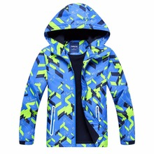 Brand Children Outerwear Warm Child Coat Sporty Kids Clothes Double-deck Waterproof Windproof Boys Jackets For 3-12T