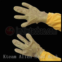 New Scary Latex Hand Mask Alien UFO Extra Terrestrial Party ET Horror Rubber Hand Gloves Halloween Party Ghost Mask with Gloves
