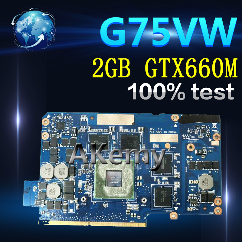 Amazoon  Video card For ASUS G75V G75VW 2GB GTX660M Highest configuration N13E-GE-A2 Graphic card 100% Tested Free ShippingAmazoon  Video card For ASUS G75V G75VW 2GB GTX660M Highest configuration N13E-GE-A2 Graphic card 100% Tested Free Shipping