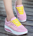 2017 Мода женская Летняя Повседневная Прогулки Черный Красный Корзины Свет Tenis Тренеры Розовый Сетка Увеличение Shoes Бесплатная Доставка