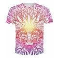 Nueva moda mujeres de los hombres camisetas 3d Goat Weed camiseta baphomet estilo Weed Leaf tops camisetas casual Camiseta harajuku psicodélico outfit