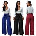 2016 marca de moda de las mujeres del verano atractivo del club del vendaje elegante blusas pantalones de pierna ancha del mono de dos piezas mamelucos combinaison femme