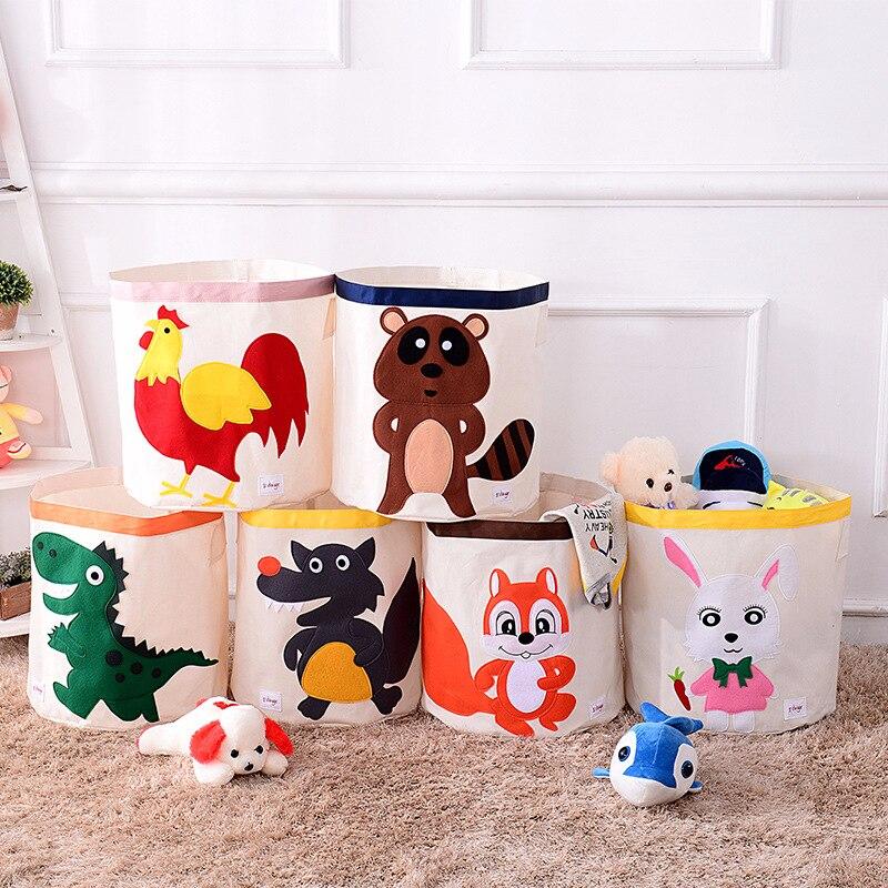 Kid's Cartoon Toy Storage Folding Basket 1
