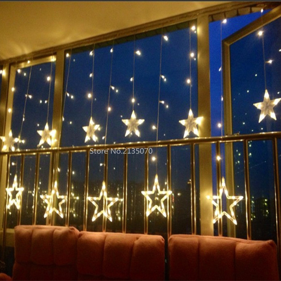 ON SALE 3M creative led curtain string lights Christmas birthday party home garden living room ...