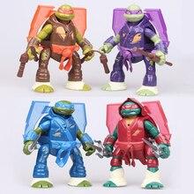 4pcs/set Lovely Turtles cartoon movable light Animal Room Decoration  Action Figures Kids Toys for Children