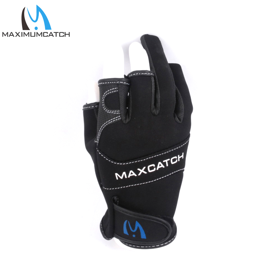 Maximumcatch Anti Slip Fishing Gloves 3 Cut Finger Outdoor Sports Slip-resistant Fishing Gloves image