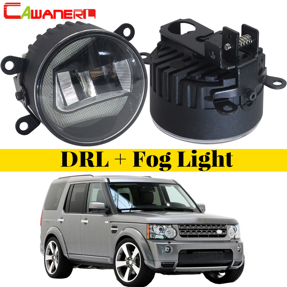 Cawanerl For Land Rover Discovery 4 LR4 SUV (LA) Closed Off-Road Vehicle 2010-2013 Car LED Fog Light DRL Daytime Running Lamp все цены