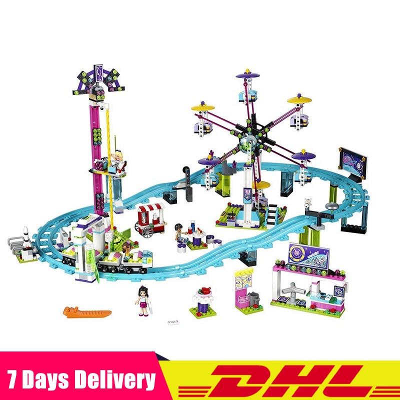 Clone Legoingly 41130 DHL LEPIN 01008 1124 pcs Parc D'attractions Roller Coaster Modèle Blocs de Construction Jouets Briques Fille Drôle Jouets