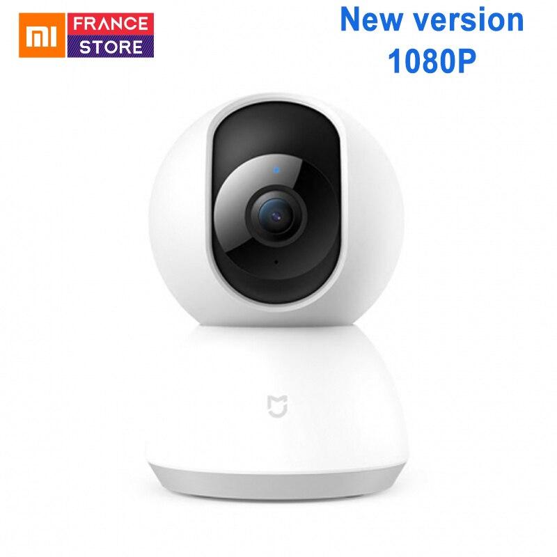 Version anglaise Xiaomi Mijia caméra intelligente berceau tête Version 1080 P 360 degrés Webcam caméra IP caméscope WIFI sans fil App contrôle