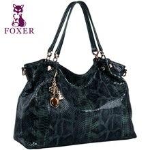 FOXER Brand Women's Cow Leather Classic Designer Shoulder Bag Bolsos Mujer De Handbags For Women