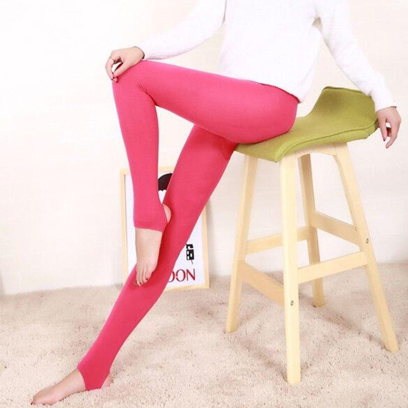Danjeaner Hot Leggings 2017 Fashion Women's Autumn Winter High Elasticity And Good Quality Warm Leggings Thick Velvet Pants 95g