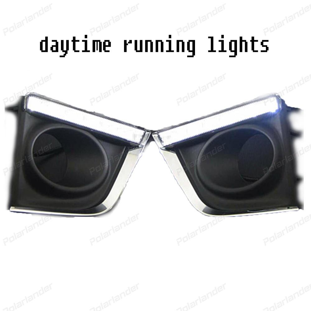 Car Styling Headlights for T/oyota C/orolla Altis 2014-2015 LED DRL Daytime Running Light daylight drl Accessories