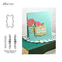 JCarter Best Wish Lace Frame Cover Metal Cutting Dies or Clear Stamps for Scrapbooking DIY Embossing Folder Paper Maker Template