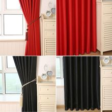 Captivating Newest Solid Color Semi Glossy Curtains Black Red Window Curtains For Living  Room(China