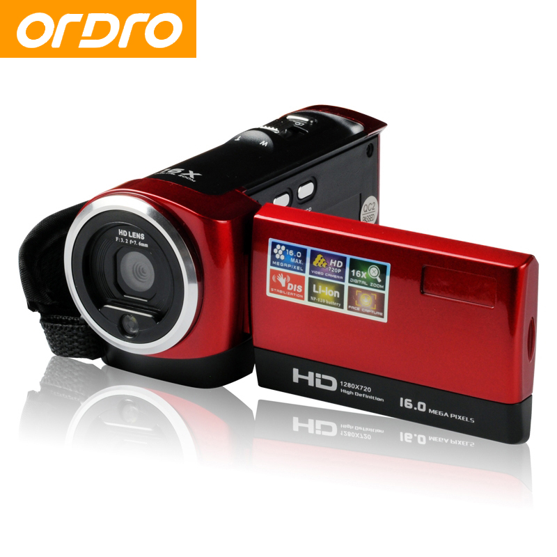 ORDRO DV-107 HD 720P 16X Zoom 2.7 inch Digital Photo Cameras with Face Recognition Video Recorder Professional Camcorders photo catalog face recognition