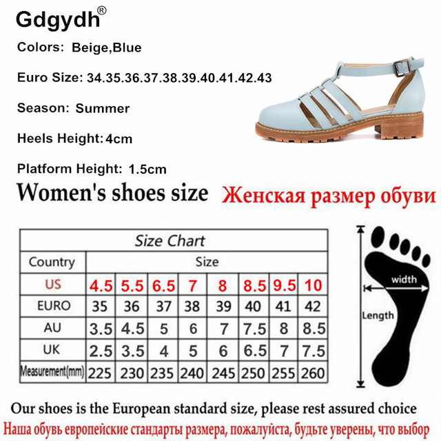 Gdgydh Hot Sales 2017 Summer Closed Toe Women Sandals Fashion Casual Cut-outs Female Sandals Sweet Ankle Strap Women Shoes