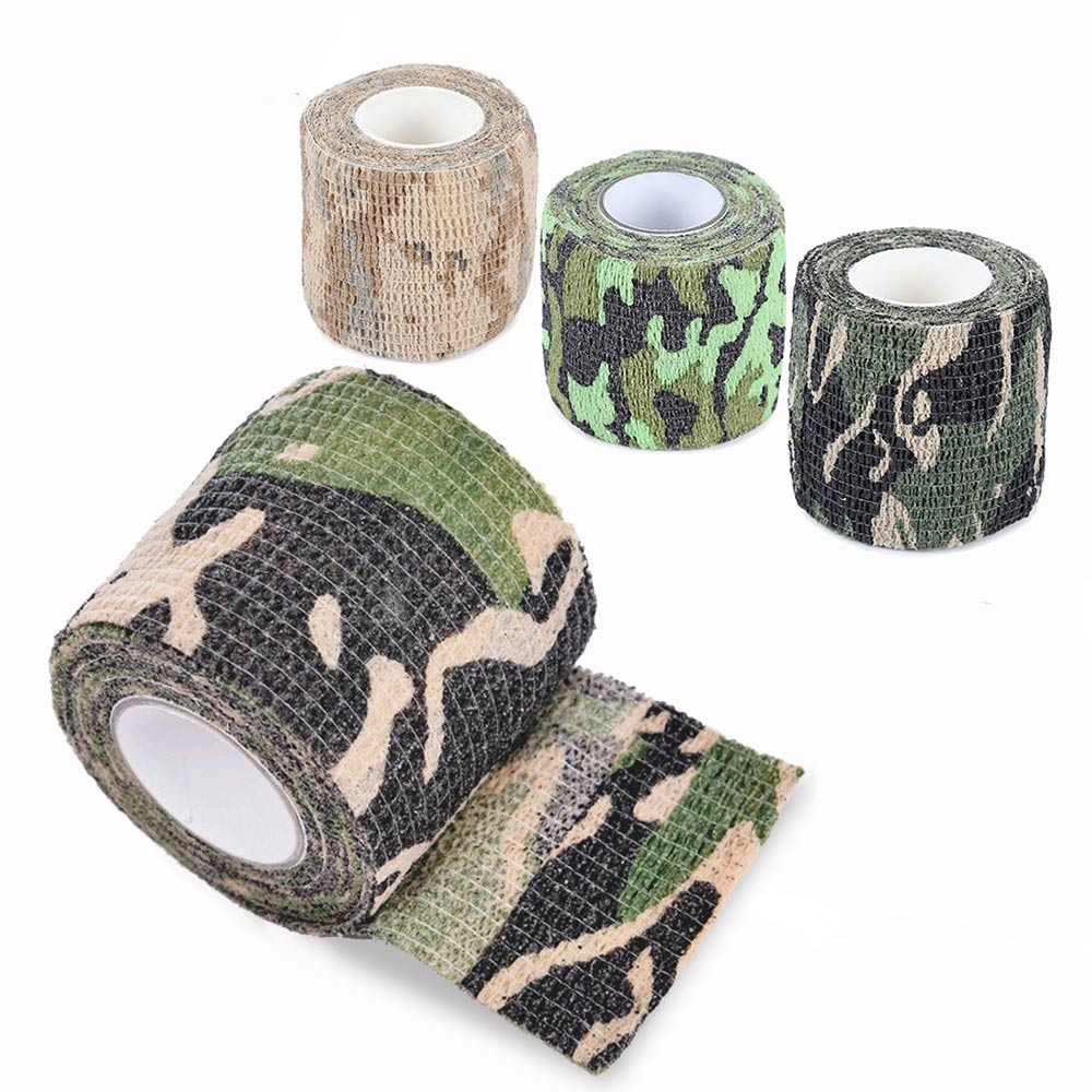 5cm x 450cm Camouflage Tape Tactical Army Military Fabric For Hunting Gun Knife Airsoft Rifle Self-adhesive Accessories