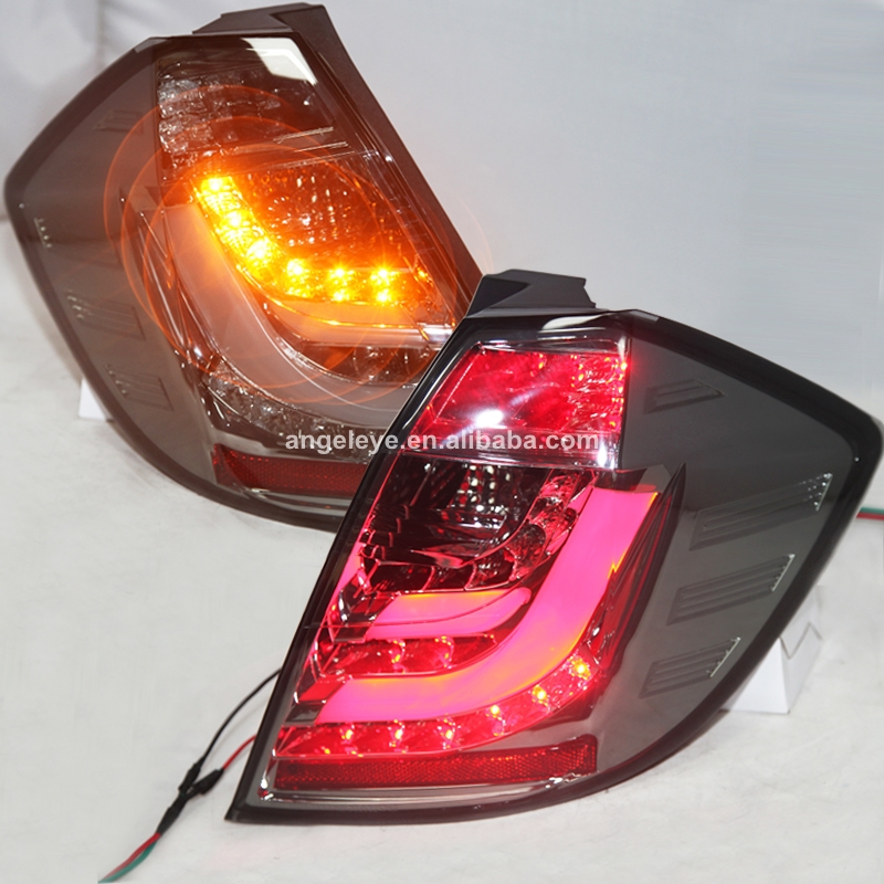 For Honda Fit Jazz LED Tail Lamp Hatchback fit jazz Rear Light 2009 To 2012 Smoke Black  ...