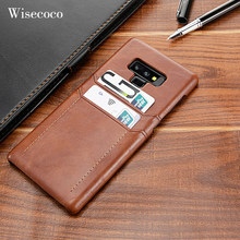 Card Holder Case for Samsung Galaxy Note 9 8 S10 Luxury Leather Wallet Shockproof Hard Back Cover for Galaxy s10 S9 S8 Plus S10E(China)