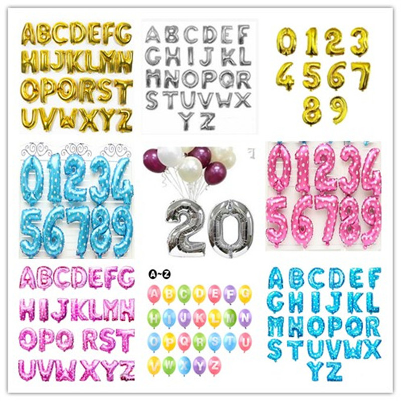 """Gold /& Silver 16/"""" Letter Number Foil Balloon BIRTHDAY PARTY Customised UK ballon"""