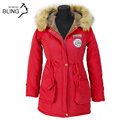 Warm Winter Coats Jackets Women Autumn Long Overcoat Faux Fur Collar Fashion with Hooded Snow Parkas Down 17 Colors Plus Size