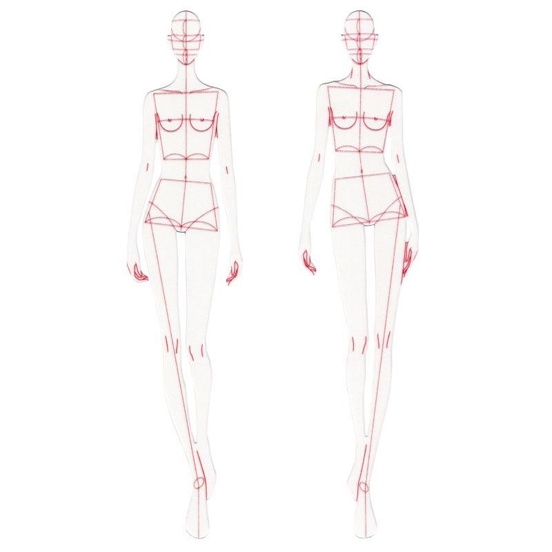 Ofis ve Okul Malzemeleri'ten Cetveller'de Moda Tasarım Cetvel Kumaş Tasarımı Çizgi Çizim Giyim Konfeksiyon Prototip Cetvel Insan Dinamik Şablon Okul Öğrenci Çizim Için title=