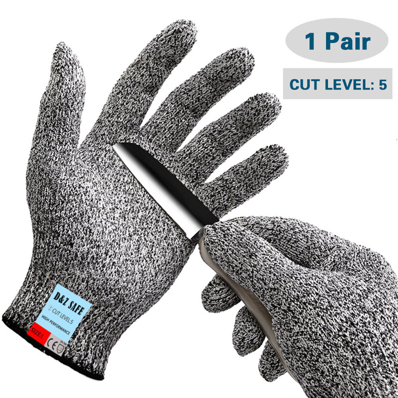 Anti-cut Safety Gloves Protect HPPE Mesh Butcher Food Meat Procress Tool Kitchen Gloves Breathable Work Gloves Cut Resistant 2017new style 316l anti cut gloves with stainless steel safety protective gloves with a anti cut hppe gloves 2 pairs