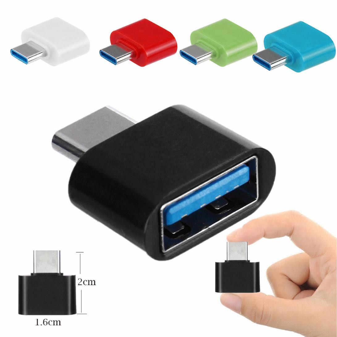 Небольшой Красочный USB 3,1 Тип-C на Usb 3,0 Otg адаптер конвертер для Macbook/Chromebook Android PC MP3 AUX аудиокабель BAY14