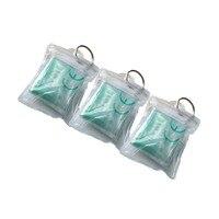 Оптовая Продажа 800 шт./упак. ПВХ маска для искусственного дыхания при реанимации защитный экран CPR брелок для ключей прозрачный чехол заверн
