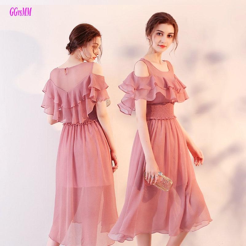Elegant Hot Pink Long Evening Dresses 2018 Scoop Casual Evening ...
