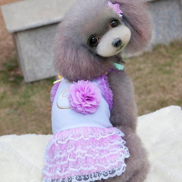 Estate Pet Vestiti Mini Maglia Pannello Esterno Del Vestito Cani  Principessa Vestiti del cane vestito vestiti 5e07fde6edc