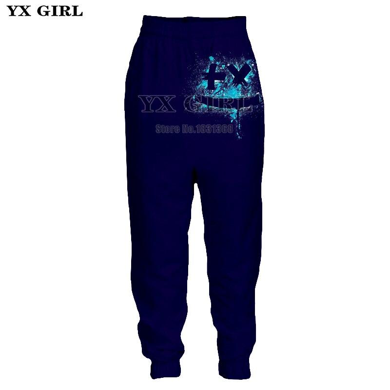 YX GIRL 3D Print DJ Singer Marshmello Men Women Trousers Casual Joggers Pants Plus Size