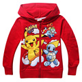 New Pikachu Pokemon Go Girls Coats Cotton Cartoon Hoodies Jacket For Girls Children Clothing For 3-10 Years Old Kids Jackets