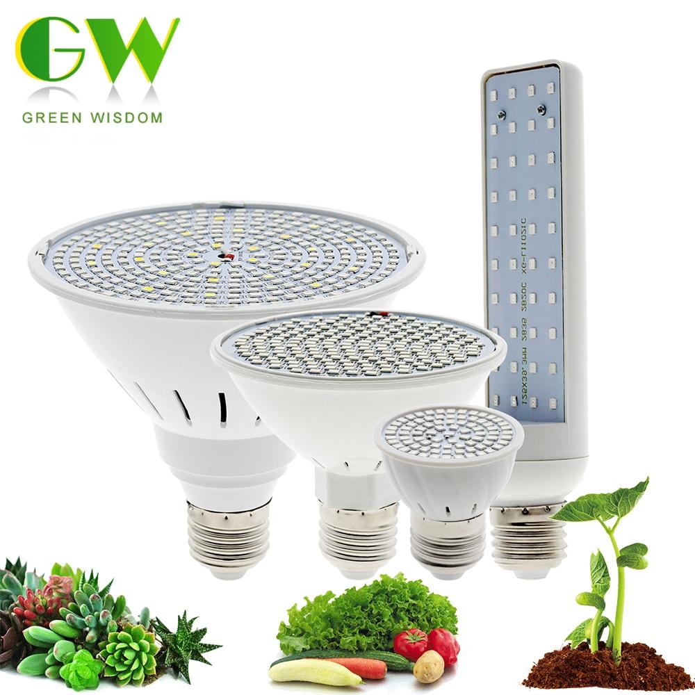 Crescimento Luz E27 220V Cresce A Luz LED Espectro completo Lâmpada Fito 80LEDs 200LEDs 290LEDs Lâmpada para plantas de interior Flores Crescer Tenda