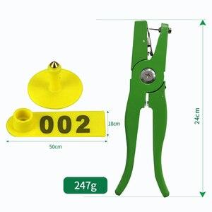 Image 2 - 耳タグ羊マーカーアプリケーター 001 100 の耳のタグヤギ識別キット耳タガー 2 個とピン耳タグプライヤー