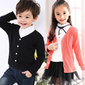 Hot Sale Girls Sweater Candy Color Cardigan Boys Knited Sweater 2-11T Kids Clothing Outer wear Autumn Spring Cotton Suits